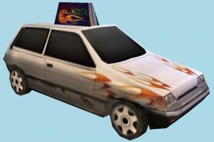 Pizza Car pizza, car, delivery, vehicle, carriage, lowpoly