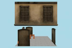 House house, home, building, build, residence, domicile, internal, lowpoly, structure