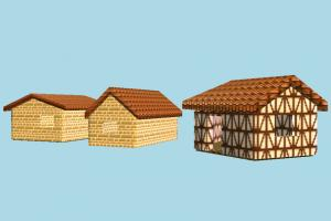 Houses barn, farm, city, house, town, country, home, building, build, residence, domicile, structure