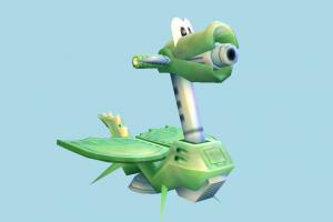 Dragon Vehicle dragon, car, spaceship, vehicle, cartoon, lowpoly