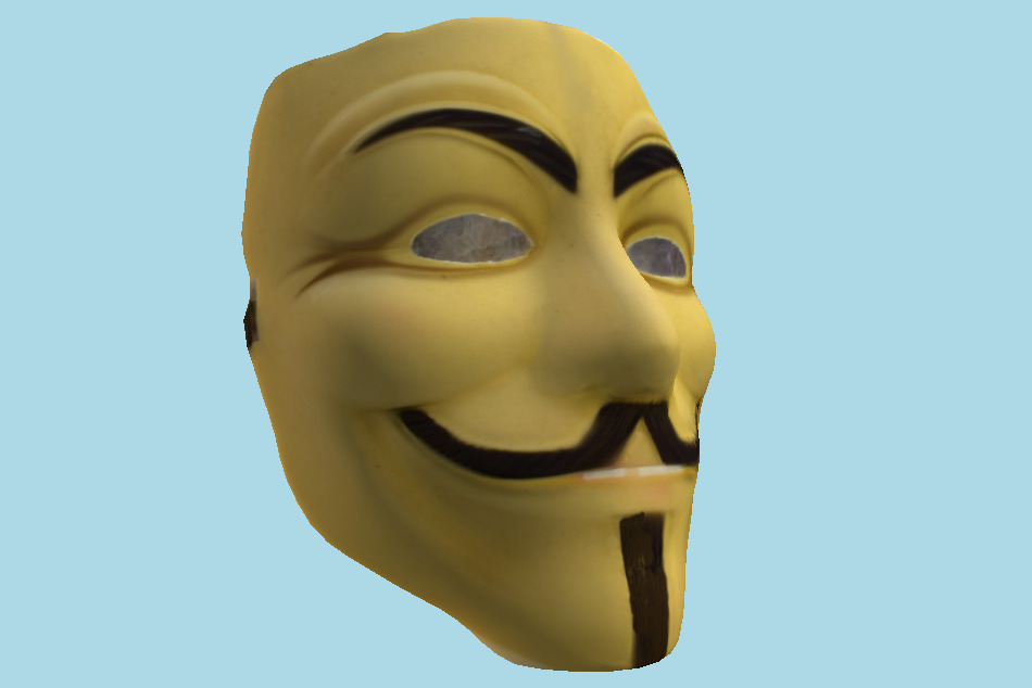 Guy Fawkes Mask 3d model