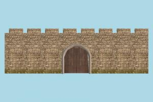 Wall Gate door, gate, wall, fence, tower, castle, build, structure