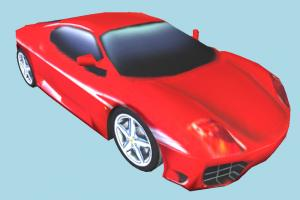 Racing Cartoon Car racing, race, speed, car, fast, vehicle, truck, carriage, red, toon, low-poly