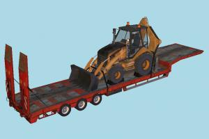 Overweight Trailer tractor, truck, constructor, trailer, vehicle, carriage