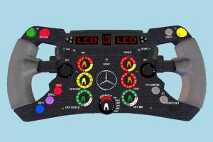 Mercedes F1 Wheel control, wheel, buttons, panel, mercedes, car