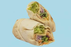 Wrap Sandwich wrap, sandwich, fastfood, snack, food, meal, lunch, bread, breakfast, arabic, scanned