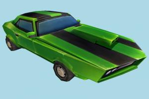 Cartoon Car Cartoon Network, Cartoon Network Universe, car, toon, vehicle, truck, transport, carriage, low-poly
