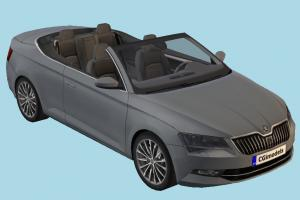 Skoda Car skoda, car, vehicle, carriage, transport, scene, cabriolet
