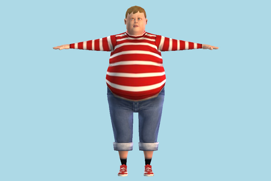 Charlie and the Chocolate Factory Augustus Gloop Fat Boy 3d model