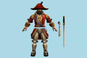 Gangplank Toysoldier horseman, warrior, soldier, man, people, human, toy, character