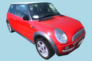 MiniCooper Low-poly mini-car, Mini-Cooper, MiniCooper, car, truck, vehicle, transport, carriage, red, low-poly