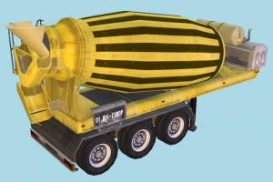 Cement Mixer truck, constructor, trailer, vehicle, carriage