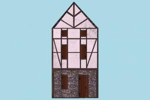Medieval House house, home, building, medieval, skyscraper, build, apartment, flat, residence, domicile, structure