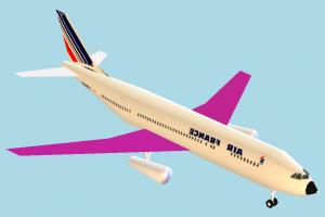 Airplane airbus, airliner, plane, airplane, aircraft, air, liner, craft, lowpoly, vessel