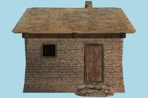 House house, home, building, hut, cottage, build, apartment, flat, residence, domicile, structure, lowpoly