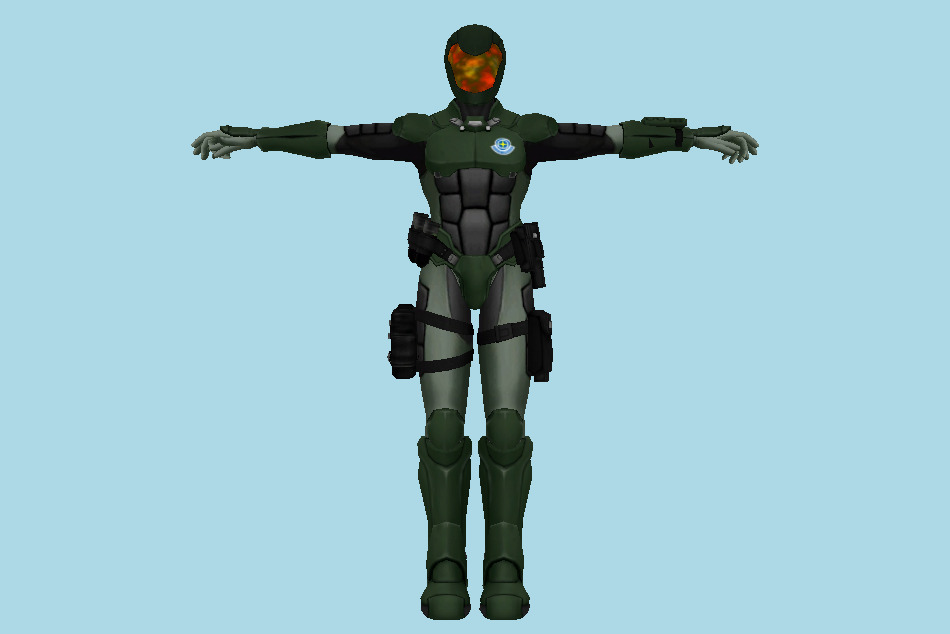 Metroid: Other M GF Metroid Soldiers (Old) 3d model