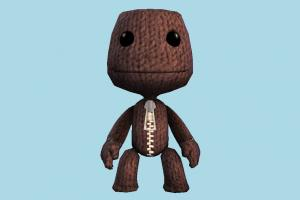 Sackboy teddy, character, toy