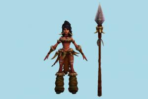 Nidalee Woman woman, girl, female, people, human, character, jungle
