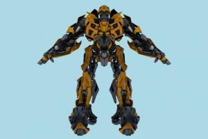 Robot Bumble robot, mech, mechanical, fighter, iron, character