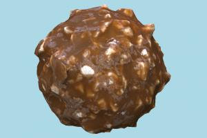 Hazelnut Chocolate milk-chocolate, chocolate, sweets, cookies, candy, cruller, cake, peanut, hazelnut, rocher, ferrero, inciprocal, scanned