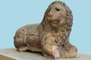 Colossal Marble Lion (Photoscan)