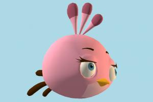 Angry Birds Stella Angry-Birds, bird, cartoon, toony