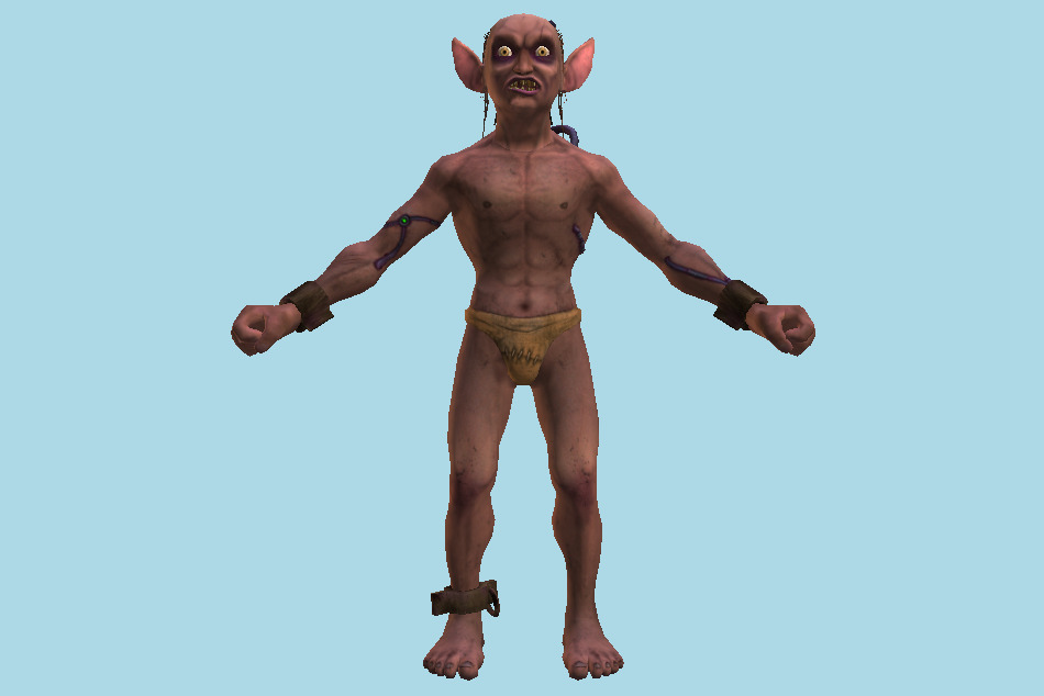 Character Gorllum Alien Troll Mutant 3d model