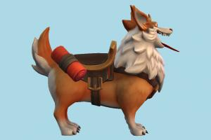 Corgi fox, dog, animal, animals, cartoon