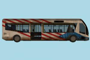 Bus with interior details bus, interior, van, high-poly, car, vehicle, truck, carriage, metro, transit