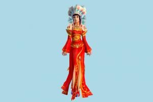 Chinese Bride bride, woman, chinese, asian, girl, lady, female, people, human, character, queen