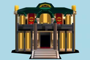Palace Front palace, castle, house, building, lowpoly, structure