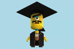 Popit Professor student, professor, school, university, teacher, character, cartoon