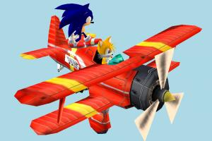 Sonic Aircraft sonic, aircraft, airplane, plane, craft, cartoon