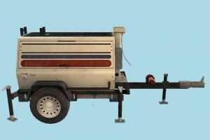 Trailer Tank Mounted trailer, tank, mounted, truck, military, army, vehicle, car, carriage, wagon, generator