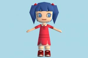 Victoria Girl girl, kid, female, child, people, character, cartoon, lowpoly