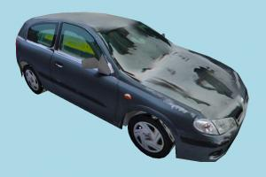 Car Dirty car, truck, vehicle, transport, carriage, blue, ice, dirty, low-poly
