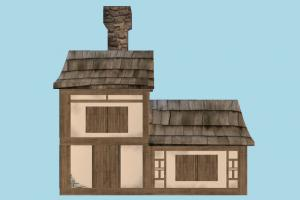 Medieval House house, home, building, medieval, build, apartment, flat, residence, domicile, structure