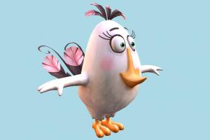Angry Birds Matilda Angry-Birds, character, bird, cartoon, toony