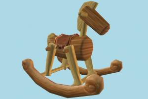 Wooden Horse wooden, horse, toy, baby, play, game, chair, rocking, swinging